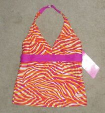 "Speedo girls bathing suit top ""Halter"" style Item:7762855 Sunset Orange Nwt"
