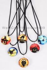 6 PC Halloween Corded Double Sided Glass Fashion Necklaces Wholesale Jewelry USA