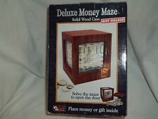 Magnif 1220 Deluxe Wood Money Maze Puzzle Bank