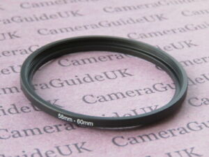 58mm 60mm 58mm-60mm Stepping Step Up Filter Ring Adapter