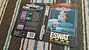 BOX ART ONLY ESWAT City At Siege Original Sega Genesis Case Sleeve