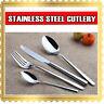 4 8 16 32 64 PCs Stainless Steel Silver Cutlery Dinner Tea Set Knife Fork Spoon