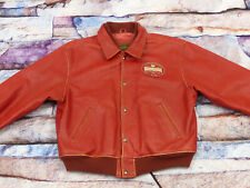 *Redskins Vintage Casual Teddy Giacca pelle *Masterpiece* Rosso Varsity * TG: XL