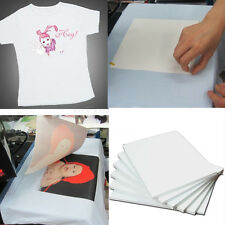 10 Pack of A4 Iron on T-Shirt TRANSFER PAPER for DARK fabrics Inkjet Printer new