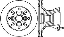 Disc Brake Rotor-Rear Drum Front Centric 121.66001