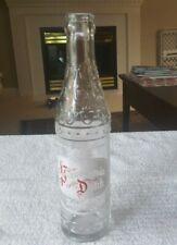 1949 PENNSYLVANIA DUTCH BEVERAGE glass bottle -  hand blown  LEBANON COUNTY, PA