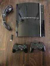 Sony Playstation 3 PS3 Konsole FAT Lady / Piano Black / 40 GB / CECHG04