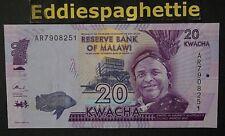 Malawi 20 Kwacha 1-1-2014 UNC P-63a