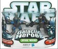 STAR WARS Galactic Heroes Mandalrian Warrior & Pre Vizsla action figures