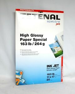 """Tetenal Spectra Jet High Glossy Paper Special 11"""" x 17"""" 20 sheets NEW SEALED"""