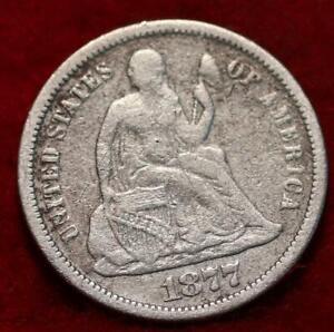 1877 Philadelphia Mint Silver Seated Liberty Half Dime
