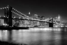 BROOKLYN BRIDGE ART PRINT BY NINA PAPIOREK bright lights big city NYC poster