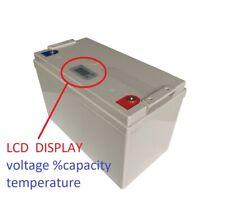LiFePO4 12V 100Ah LiFePO4 batteria 100ah LCD litio ferro fosfato pannelli solari