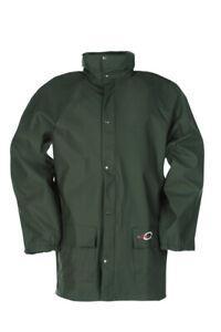 Sioen Flexothane Waterproof 4820 Lightweight Rain Coat Dortmund Green 2XL