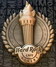 Hard Rock Cafe ATHENS GREECE 2017 Bronze 3-D Core City OLYMPIC TORCH PIN #96662