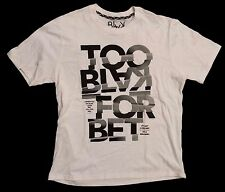 Rocawear Blak Too Black For BET White T-Shirt in Small