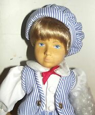 """Hand Carved Wooden Doll by Timberline """"Tommy"""" New in box LTD edition 40/600 rare"""