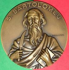 Religious / Saint Bartholomew / Jesus Apostle / Bronze Medal By Antunes / 3.5´´