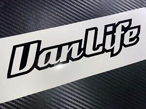 BLACK Van Life Decal Sticker Camper VDUB Vivaro Caddy T4 T5 Transit T6 Off Grid