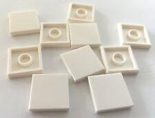 *NEW* 10 Pieces Lego SMOOTH TILE 2x2 WHITE 3096