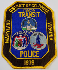 Metro Transit Police Maryland District of Columbia Virginia Cloth Patch