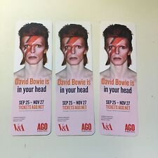 David Bowie rare 3 Art Gallery bookmarks