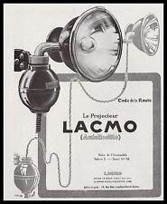 Publicité projecteur  LACMO Accessoires  Automobile car vintage  ad  1928