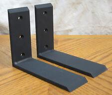 """2 Heavy Duty Black Steel 6""""x8"""" Countertop Support Brackets! Corbel Lot L Shelf"""