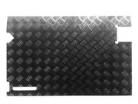 Rear Door Card (up to 97) - 2mm Chequer Plate - Powdercoated Black - Defender