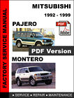 MITSUBISHI PAJERO MONTERO 1992 - 1999 ULTIMATE OEM SERVICE REPAIR SHOP MANUAL