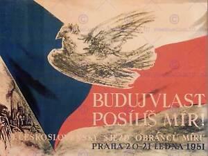 PROPAGANDA PEACE DOVE CZECH PRAGUE POSTER ART PRINT 30X40 CM BB2504B