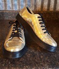 Dr Martens Metallic Gold Snake SPIN Shoes Sneakers Womens 11 UK9 EU43 Shiny