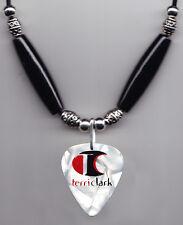 Terri Clark White Pearl Signature MAD Guitar Pick Necklace - 2004 Tour