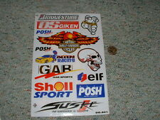 Decals / stickers R/C radio controlled Bridgestone Shell Sport Harley  etc  BB3