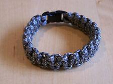 Paracord Survival Bracelet Bracelet Cobra Stitch 550 LB (environ 249.48 kg) Para Cordon numérique ACU