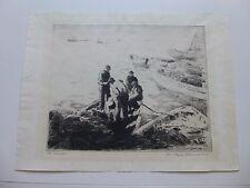 GEORGE ELMER BROWNE   ETCHING  THE BAILERS