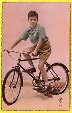 cpa FANTAISIE Garçon BICYCLETTE VÉLO BIKE BOY FAHRRAD JUNGE