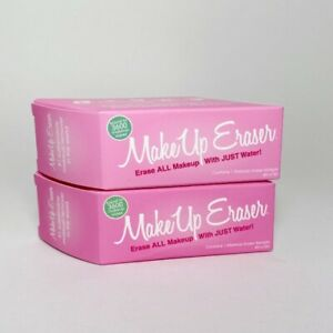LOT 2 Makeup Eraser Cleansing Removing Cloth Pink 4  x 3 inch Single