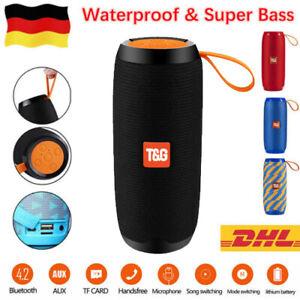 40W Tragbarer Bluetooth Lautsprecher Musik box Stereo Wireless Subwoofer SD USB
