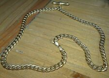 Vintage 9ct  Gold Albert T Bar Watch Chain / Necklace (Not Scrap) 8.4g