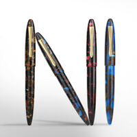 Moonman M100 Acrylic Fountain Pen, SCHMIDT Iridium F Nib Ink Pen Original Box