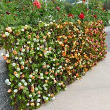 Garten Verstellbar Teleskop Holz Zaun Künstlich Rose Blume Pflanze Spalier