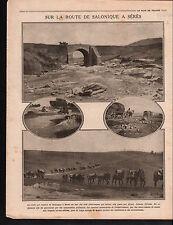 WWI Ammunition Mules Thessaloniki Greece / Medals Serbia Day 1916 ILLUSTRATION