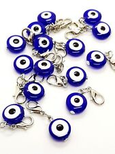 Small Lucky Turkish Evil Eye Nazar Hamsa Kabbalah Personal Key Purse Charm   Li1