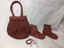 Bjd-Msd 1/4 Real Leather Suede Lace Up Boots, Purse & Bracelet~Never Used!