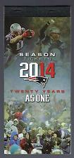 2014 NFL NEW ENGLAND PATRIOTS FULL UNUSED FOOTBALL TICKETS ENTIRE HOME SEASON