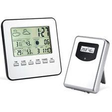Station Météo Sans Fil Thermomètre Intérieur Hygromètre Horloge Réveil