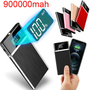 900000mAh 2 USB Backup External Battery Power Bank Pack Charger For Cell Phones