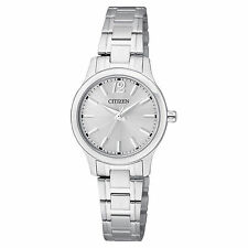 New Citizen Ladies Dress Silver Tone Stainless Steel Watch EL3030-59A