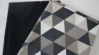 Stoffpaket, Taschenstoff Canvas uni schwarz +  Canvas Triangel 2 x 50 x 140 cm